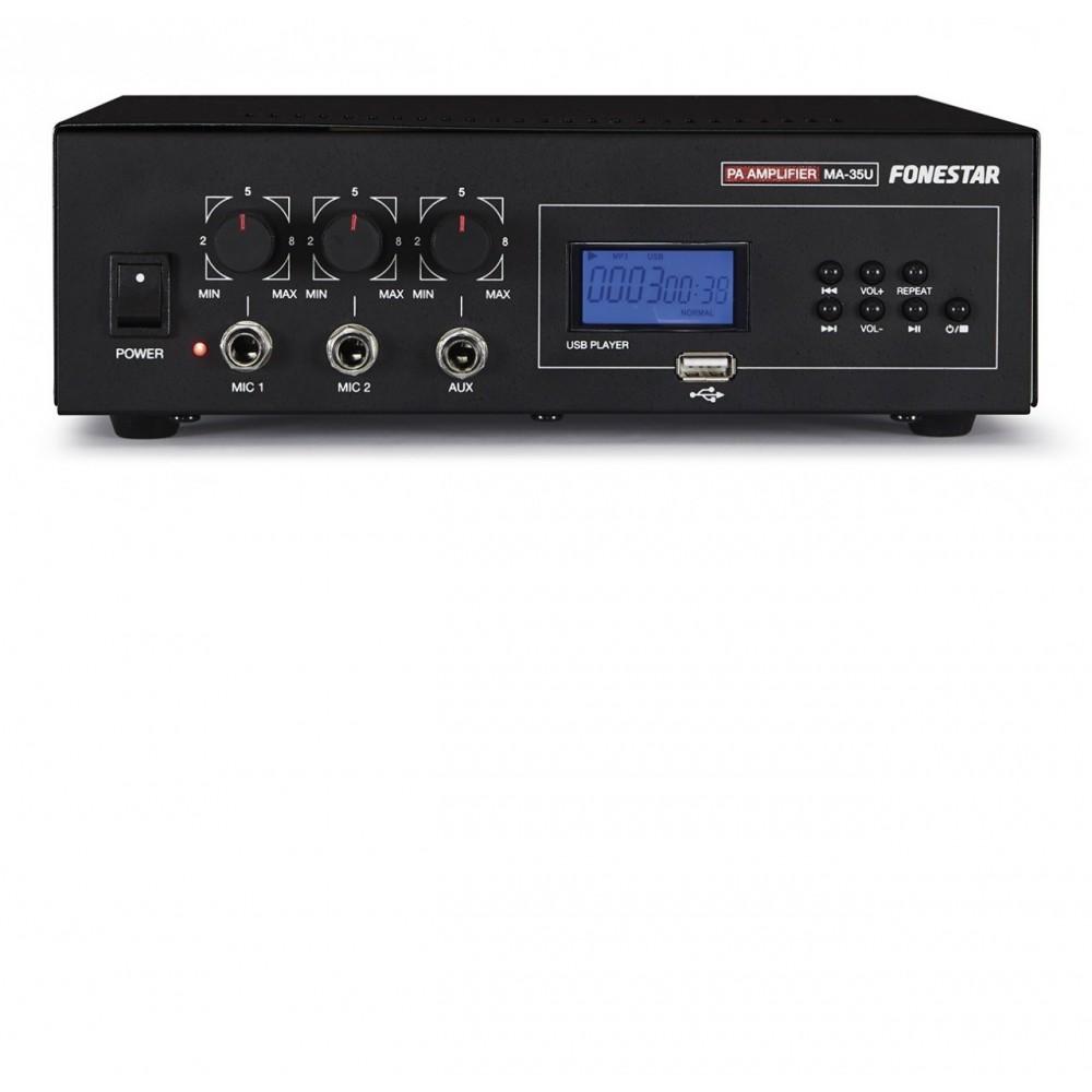 MA35U AMPLIFICADOR MEGAFON. FONESTAR  USB 30W 220 Y 12 V.