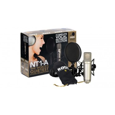 NT1A BUNDLE MICRO  RODE CON SUSPENSION Y FILTRO ANTI POP