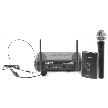 STWM712C 179180 MICRO. INAL.SKYTEC/VONYX DIVERSITY DOBLE MANO/CABEZA VHF