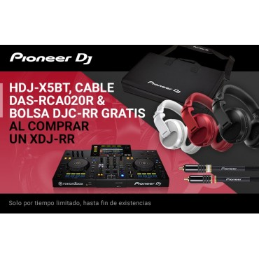 PACK XDJRR CONTROLADOR PIONEER XDJRR+RCA020R+DJCRR+HDJX5BTK