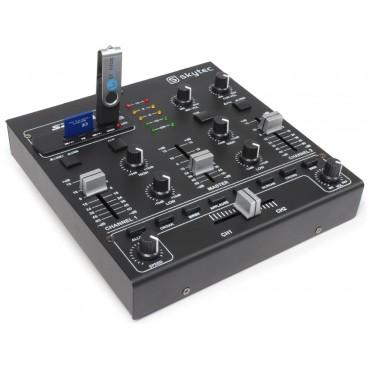 172979 MEZCLADOR 4 CANALES SKYTEC/VONYX SD/USB/MP3 EFECTOS DIGITALES