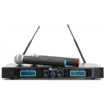 179130 DOBLE MICRO PD732H POWER DYNAMICS UHF 16 CH.DIVERSITY DE MANO