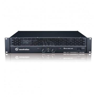 N952N ETAPA DE POTENCIA ZEUS 2500 MKII SOUNDSATION 2x500W 8 OHM.