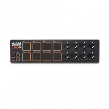 LPD8 CONTROLADOR MIDI 8 PADS AKAI 8 PADS 4 BANCOS DE MEMORIA USB MAC Y PC