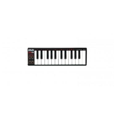 LPK25 TECLADO CONTROLADOR MIDI AKAI 25 TECLAS USB 4 BANCOS DE MEMORIA PC/MAC