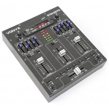 172982 MEZCALDOR STM2270 VONYX 4 CANALES USB/SD/BLUETOOTH