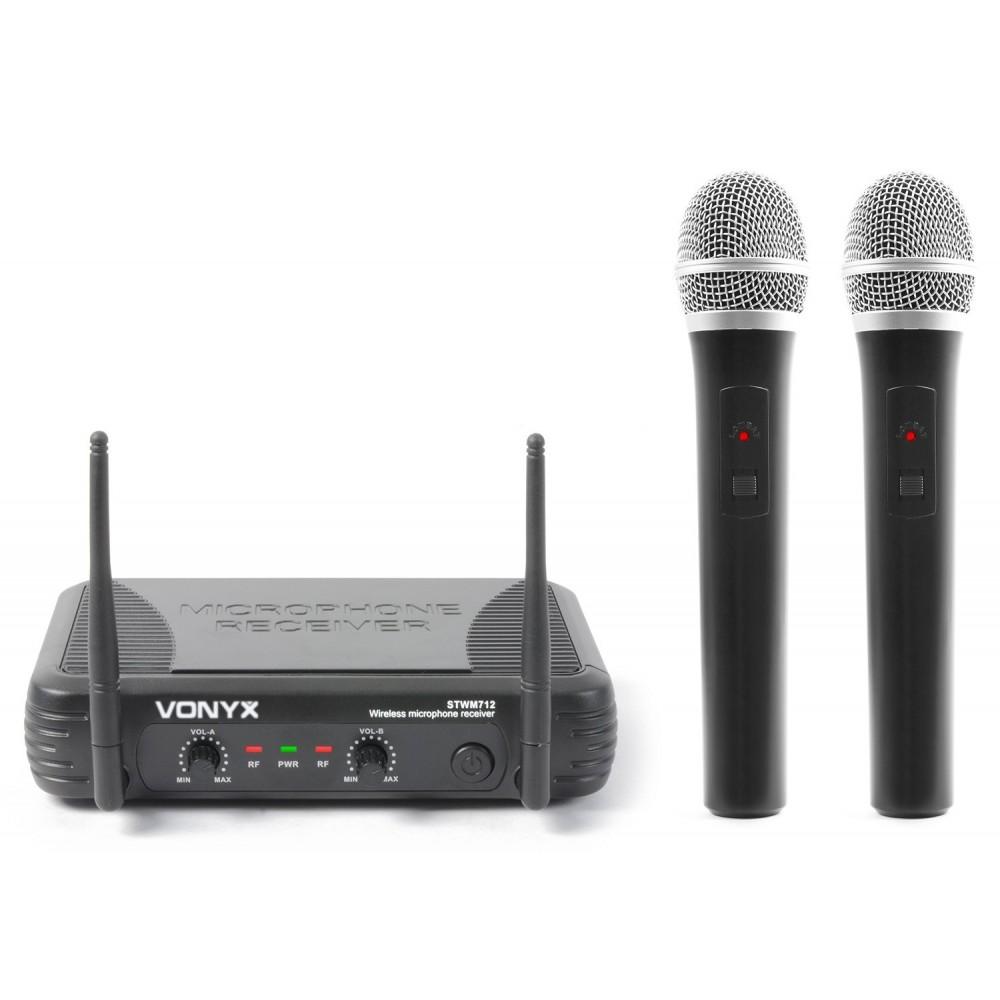 STWM712 179183 MIC. INAL. DOBLE DE MANO VHF VONYX