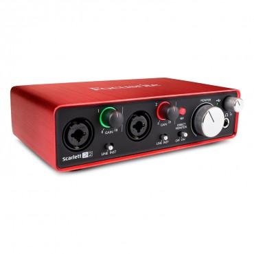 SCARLETT 2i2 2ND FOCUSRITE  2x2 USB INTERFACE DE AUDIO