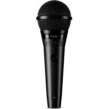 PGA58 XLR MICRO DINAMICO SHURE VOCAL CARDIOIDE