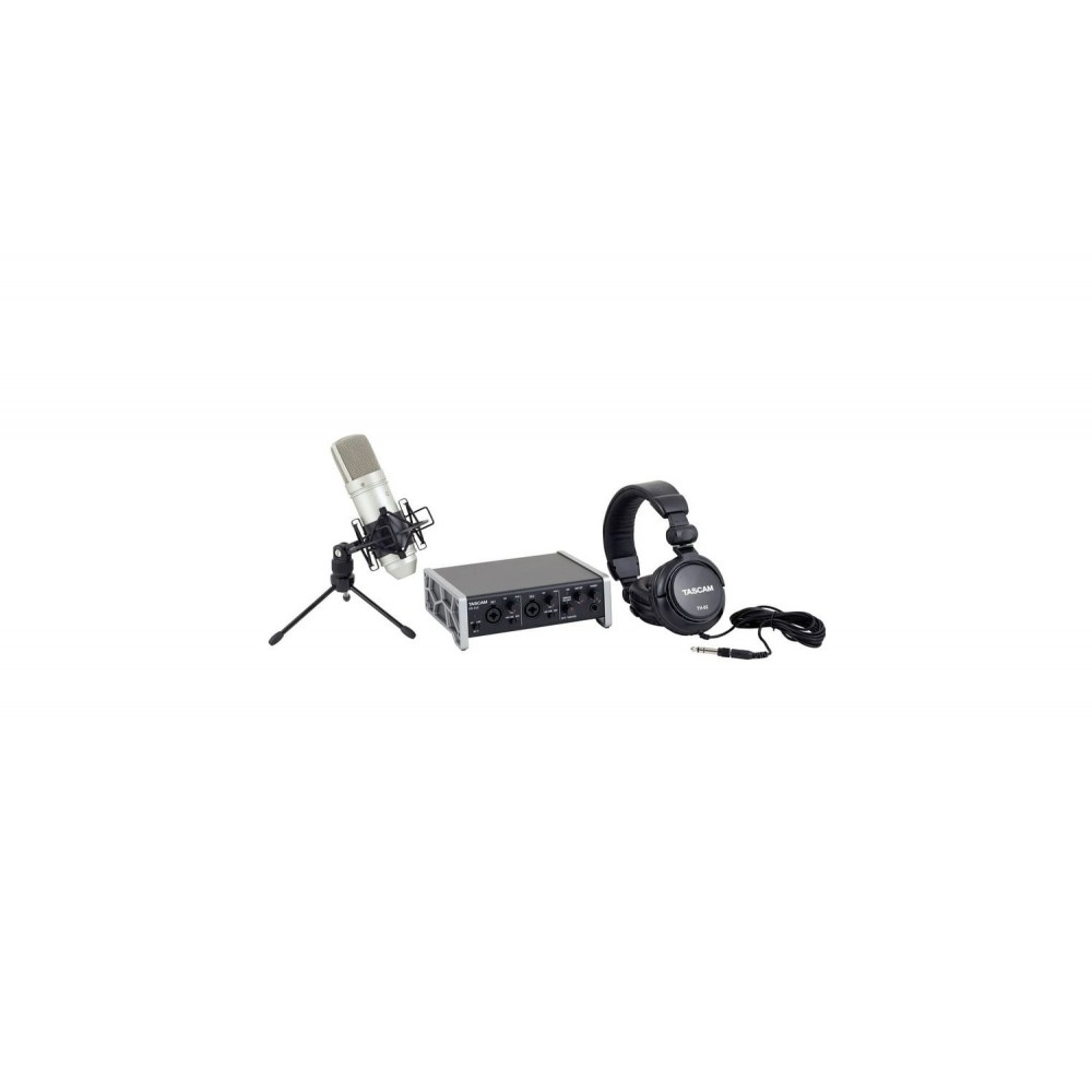 US2X2 TP PACK RECORDING HOME STUDIO TASCAM INTERFACE+AURICULAR+MICRO+CABLE