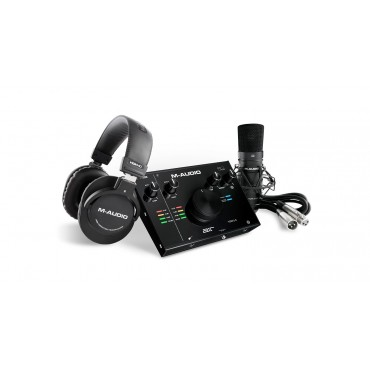 AIR192 4SPRO PACK GRABACION M-AUDIO INTERFACE+MICROFONO+AURICULARES