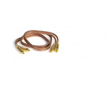 AA763 CONEXION RCA-RCA 1MT FONESTAR CONECTORES DORADOS PROFESIONAL