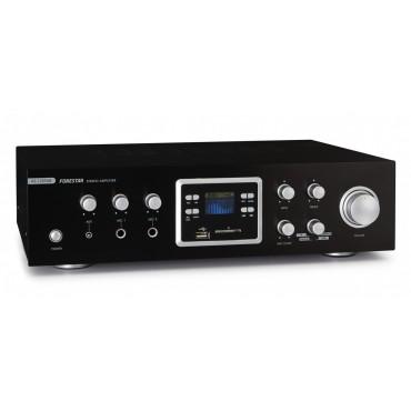 AS123 RUB AMPLIFICADOR FONESTAR KARAOKE PLAY/REC USB-BLUETOOTH 60Wx2