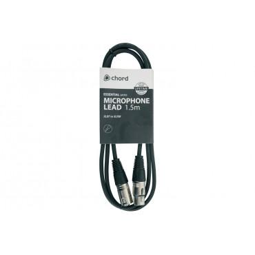 190080UK CABLE XLR-XLR QTX CHORD 1,5 MT. BALANCEADO