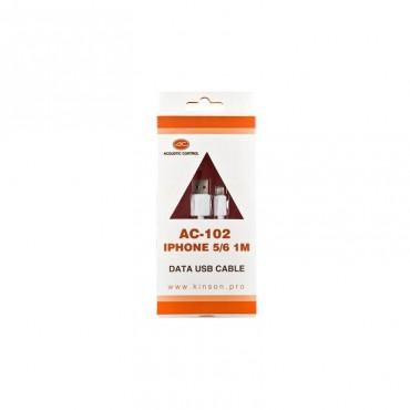 DISCO     AC102 CABLE CARGA ACOUSTIC CONTROL Compatible con iPhone, iPad o iPod 1MT.