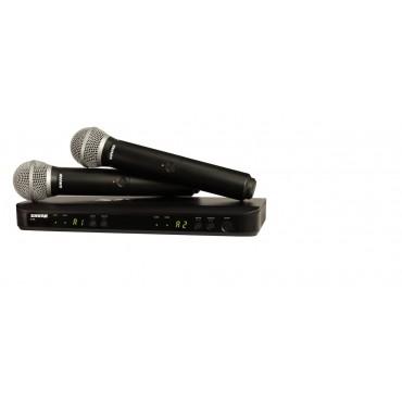 BLX288/PG58 MICRO INALAMB DOBLE SHURE Sistema inalámbrico dual de mano VOCAL PG